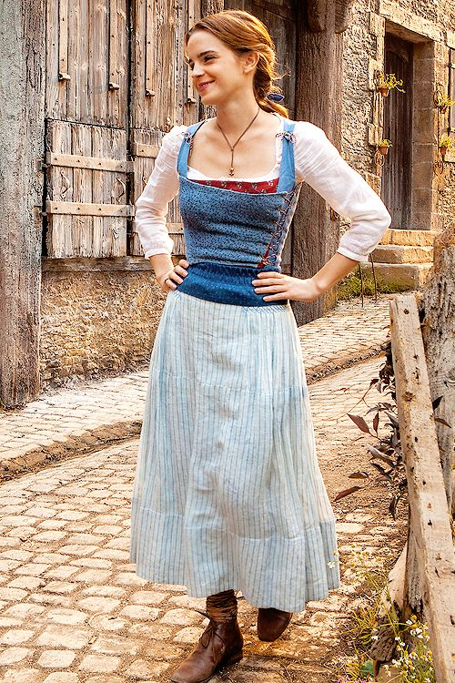 Emma Watson on the set of Beauty and the Beast (2017) Pinned by @lilyriverside