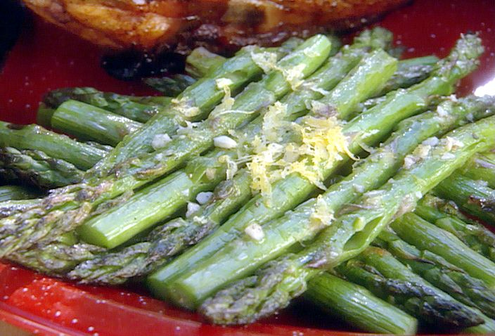 Grilled Asparagus with Lemon and Garlic Recipe : Paula Deen : Food ...