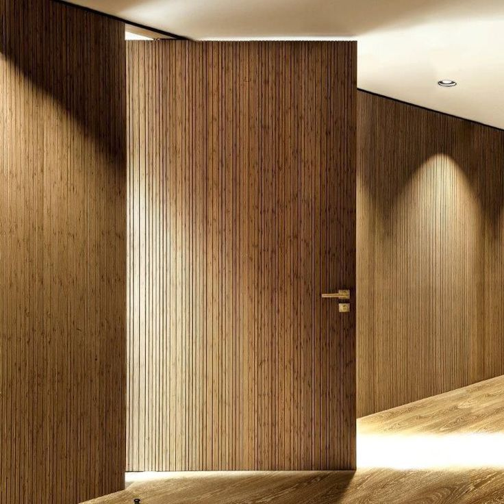 Multilayer solid wood panel bamboo for interior for Solid wood interior barn door