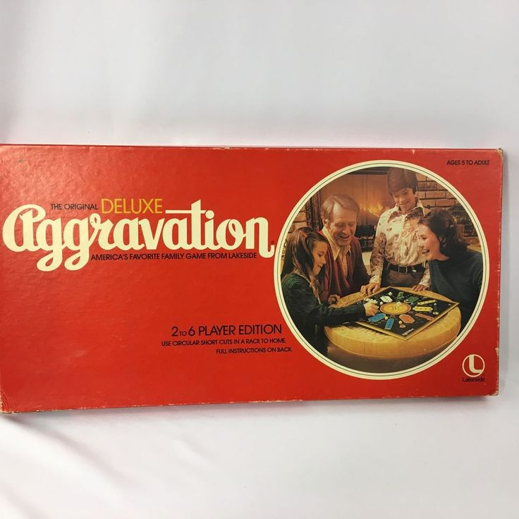 Vintage The Original Deluxe Aggravation Board Game by Lakeside 1977 Complete #Lakeside