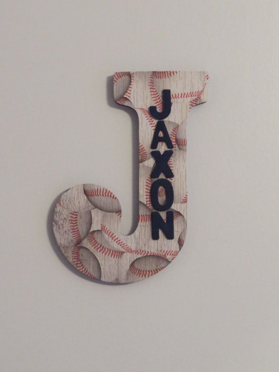 Baseball Custom Wall Letter Baseball letter by amandascreations05