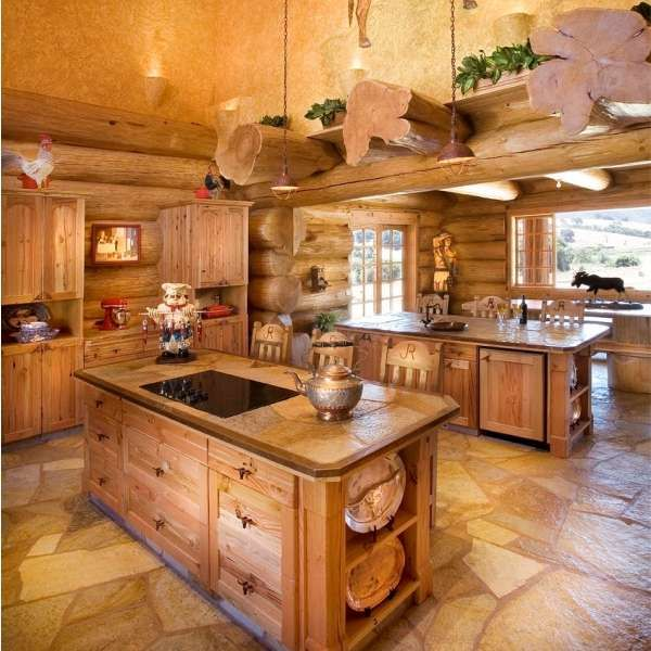 Stunning Kitchens: Stunning All-Log Kitchen