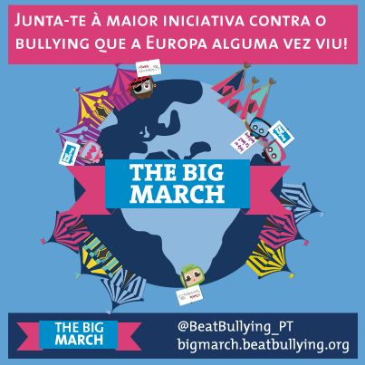 The Big March is an EU wide anti-bullying protest, promoting the rights of children to be able to live without fear of bullying and cyberbullying.