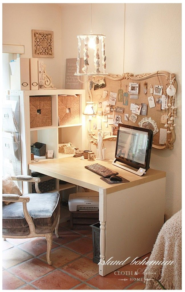 Island Bohemian Summer Decor | Home Office