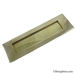 Letter Plate Polished Brass 250mm