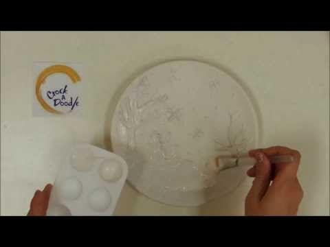 Crock a doodle pottery painting technique bumpy doodle for Clay pot painting techniques