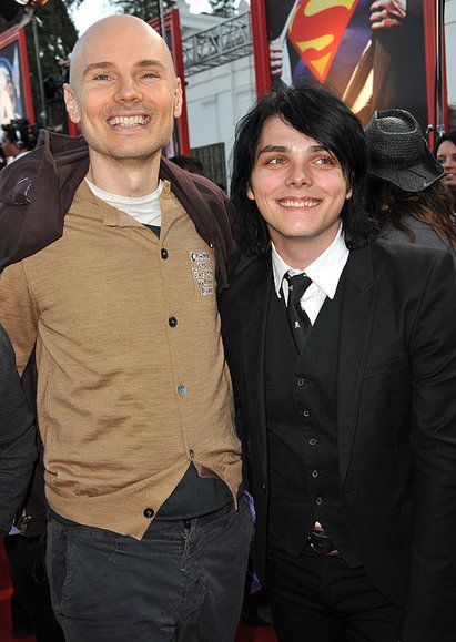 This picture just made my day. Billy Corgan and Gerard Way.