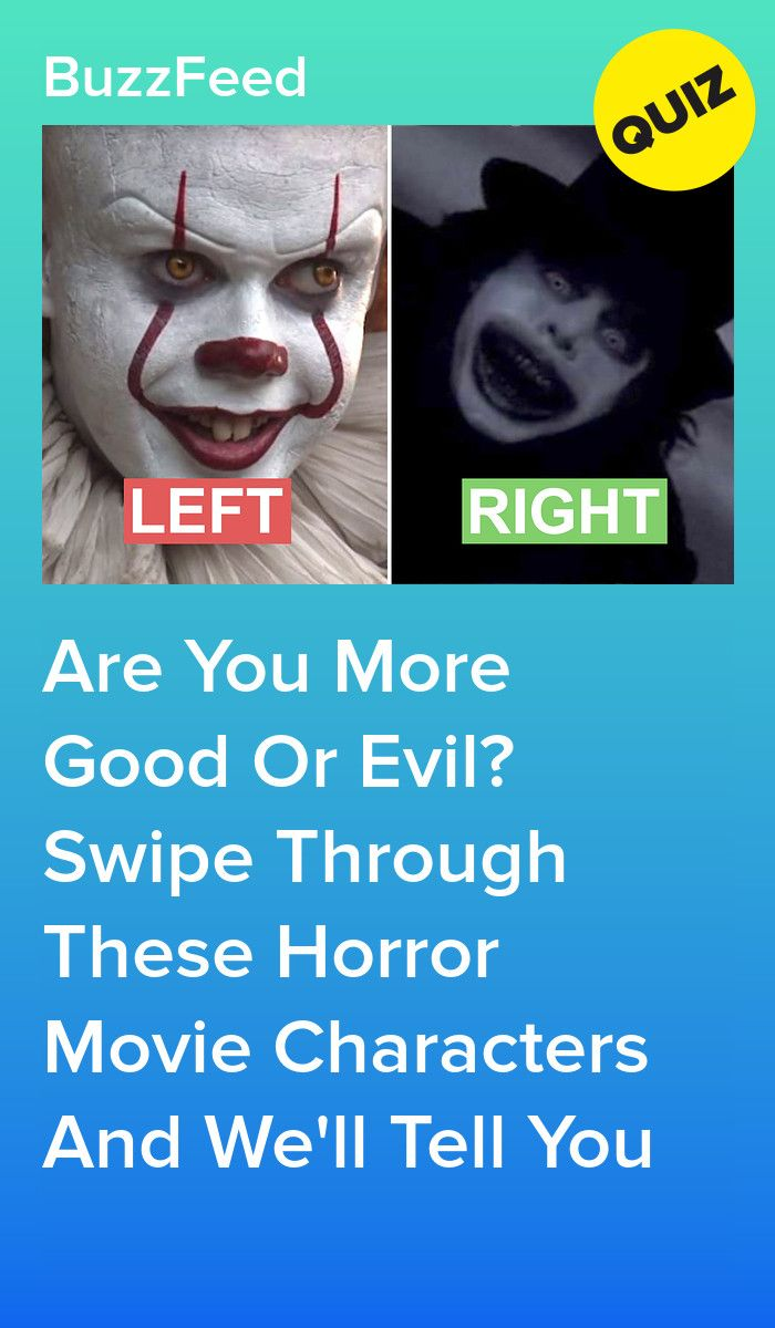 Are You More Good Or Evil? Swipe Through These Horror Movie