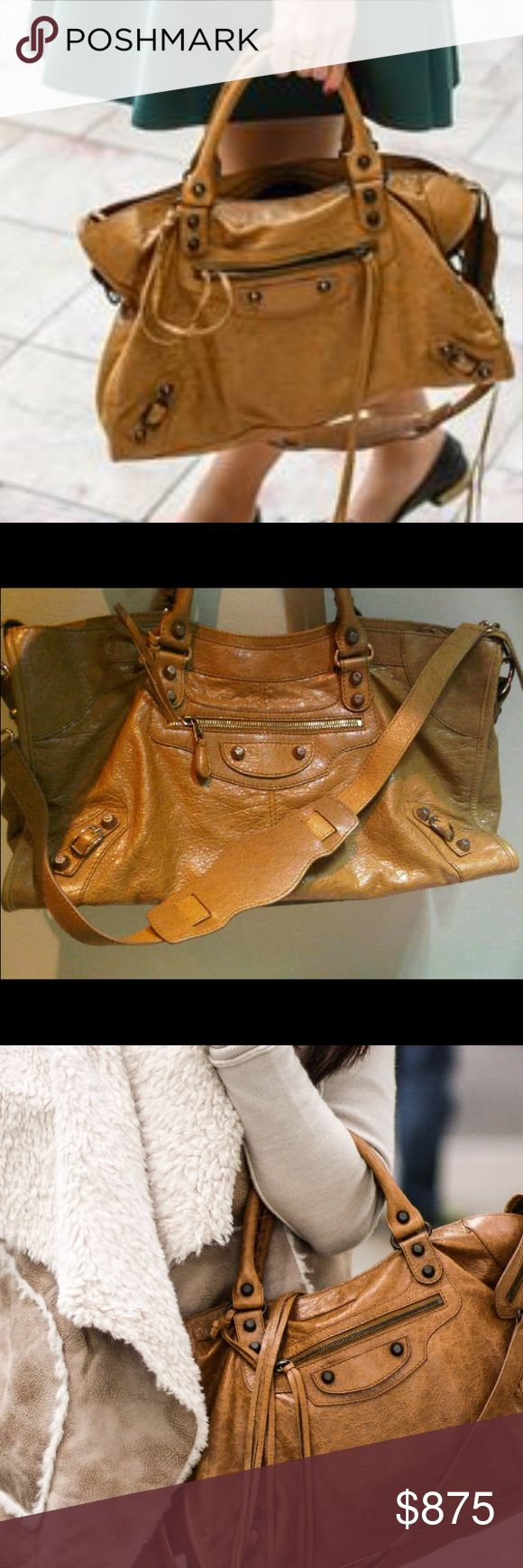 NWT Balenciaga part time cumin & dustbag Balenciaga part time in cumin. NWT. Also comes with dustbag. Never used. This is an authentic bag. I am trying to sell it so I can get a larger purse that fits my needs. Price is firm Balenciaga Bags Shoulder Bags