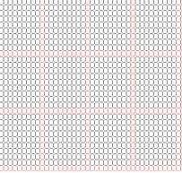 Delica Bead 11/o Graph Paper (Actual Size) at Sova-Enterprises.com