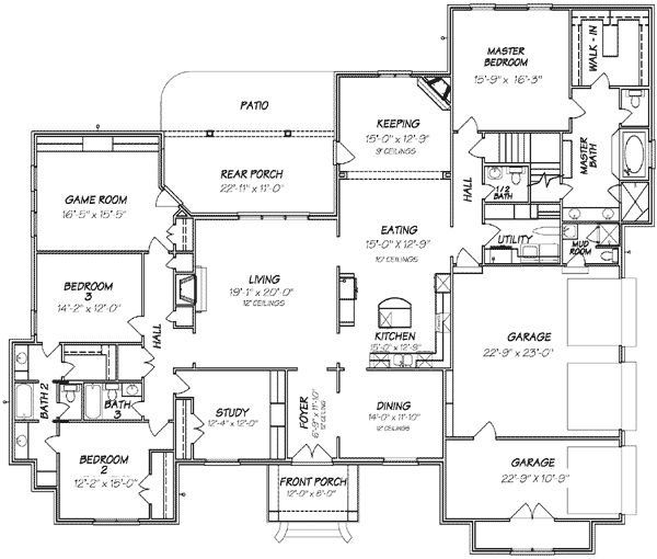 The 25+ Best One Level House Plans Ideas On Pinterest | Four