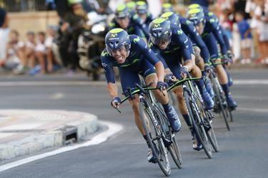 Vuelta a España: Movistar wins Team Time Trial opener