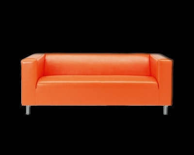 Canap 39 klippan 39 d 39 ikea orange klippan pinterest for Canape 90x190 ikea