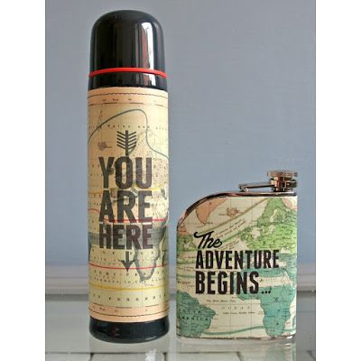 10 Crazy Pretty Thermal Flasks for Autumn - including this one, which makes us long for an adventure! But now we can have an adventure with a nice warm cup of coffee in a gorgeous thermos! | Vinspire