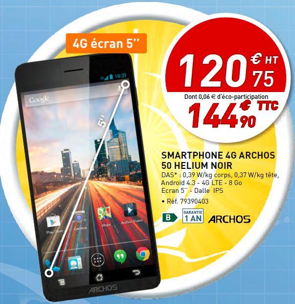 Smartphone 4G Archos 50 Helium Noir : http://www.bureau-vallee.fr/smartphone-archos-50-helium-5-8go-4g-75007.html