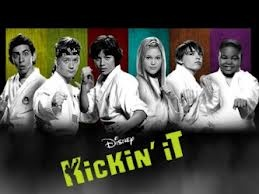 Kickin' It (Left to Right:) Mateo Arias, Jason Earles, Leo Howard, Olivia Holt, Dylan Riley Snyder, and Alex Jones. I luv this show