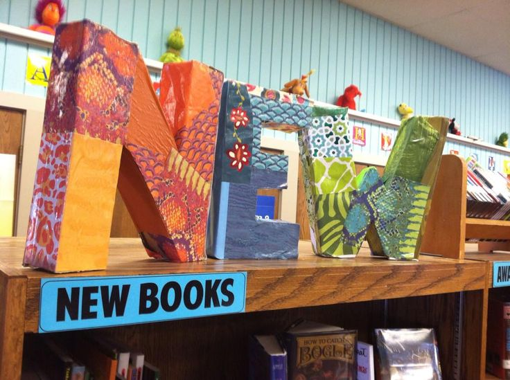 """NEW letters in the library! Modpodge and origami paper. #iowatl"""