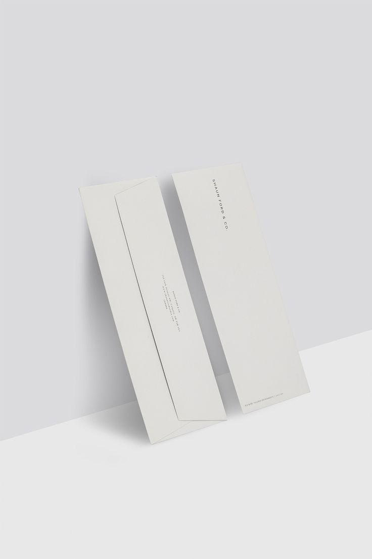 Shaun Ford, branding, envelopes, minimal, typography, gray