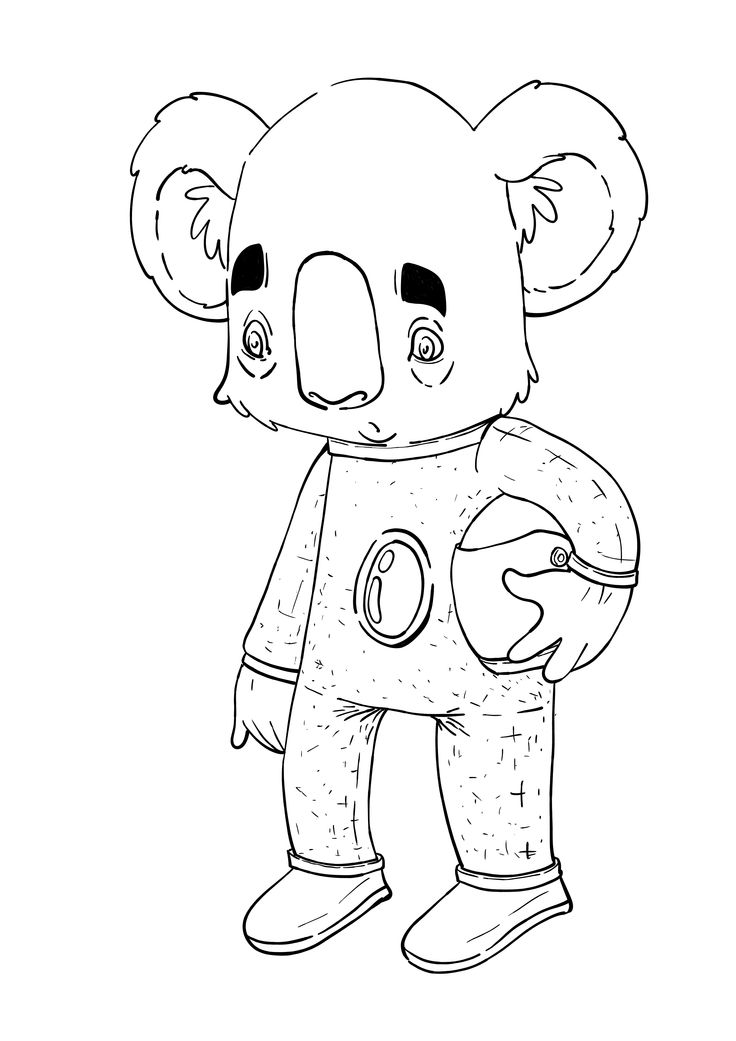 Space Coala #illustration #cartoon #character