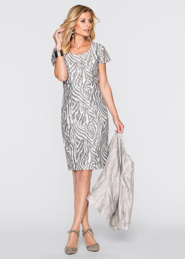 Abito Grigio / bianco fantasia - bpc selection è ordinabile nello shop on-line di bonprix.it da ? 39,99. Elegante abito a tubino in tessuto stropicciato ...