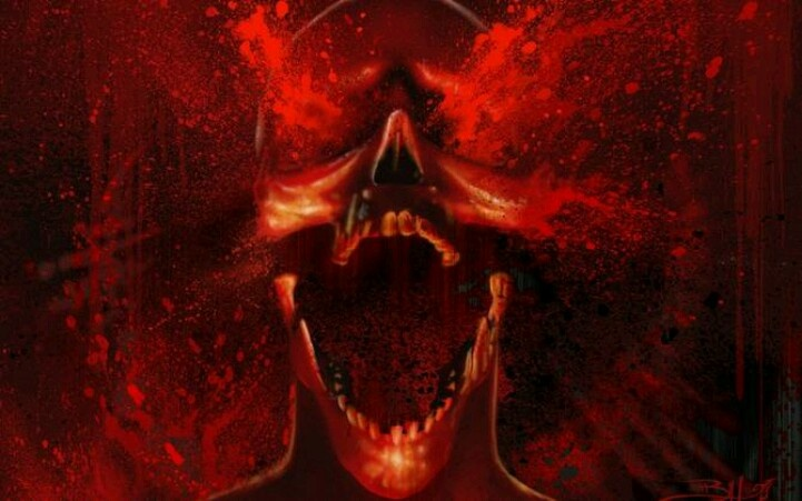 bloody skull wallpaper related - photo #2