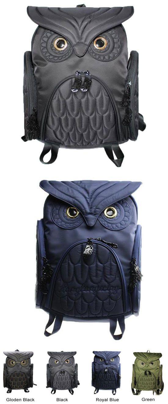 Unique Cool Owl Shape Solid Computer Backpack School Bag Travel Bag for big sale! #school #Backpack #Bag #Owl #unique #fashion