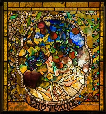 Tiffany Glass: Panels Produced, Living Rooms, Four Seasons, Laurelton Hall, 1899 1900, Seasons Window, St. Louis, Louis Comfort Tiffany, Stained Glass