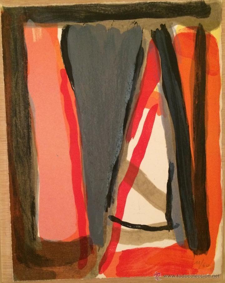 Arte: 5 LITOGRAFÍAS DE BRAM VAN VELDE, 1975. Celui qui ne peut se servir des mots. - Foto 7 - 46981028