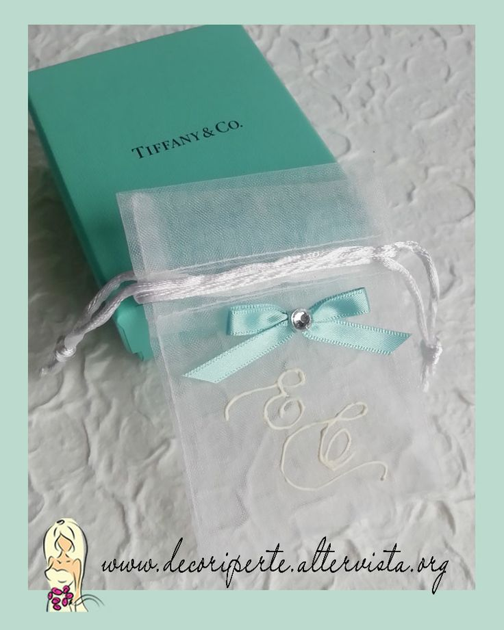 """Tiffany Wedding Organza Bag Sacchetti organza porta-confetti """"Tiffany"""""""