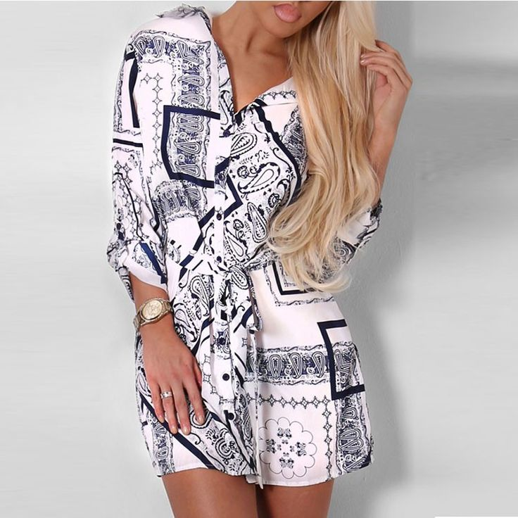 Factory Wholesale Fashion Print Woman Casual Latest Dress Designs Lady Mini…
