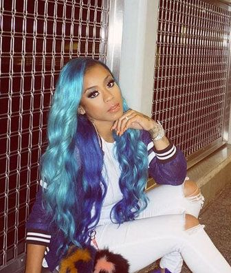 Keyshia Cole's blue tresses is the perfect summertime look | Essence.com