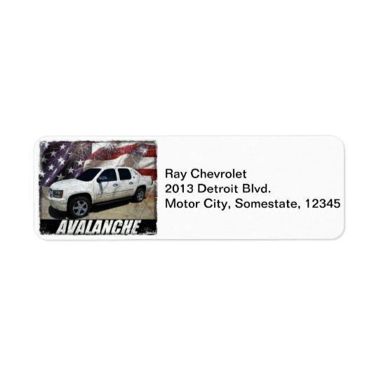 2013 Avalanche LTZ Label