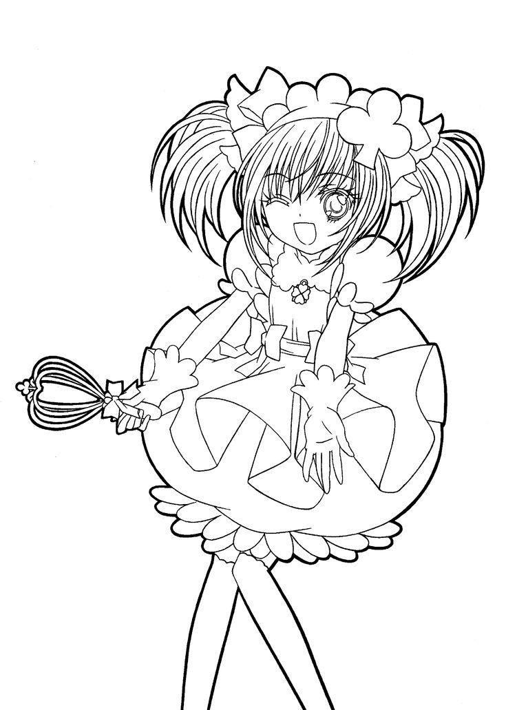 Shugo chara funny anime coloring