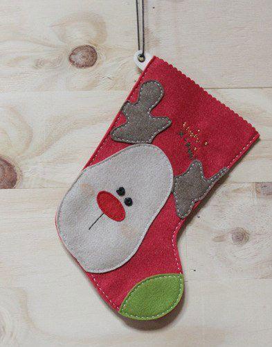 hacer botas navideñas de fieltro