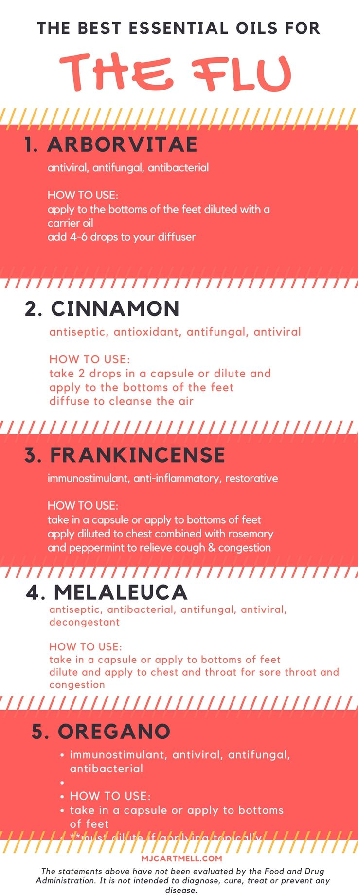 Learn the best essential oils to use when you have the flu