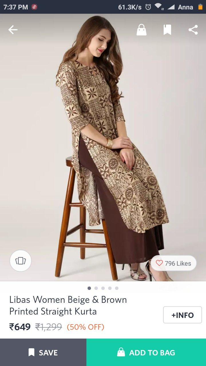 0270c610e73 Myntra | kurti love in 2019 | Indian designer wear, Indian long ...
