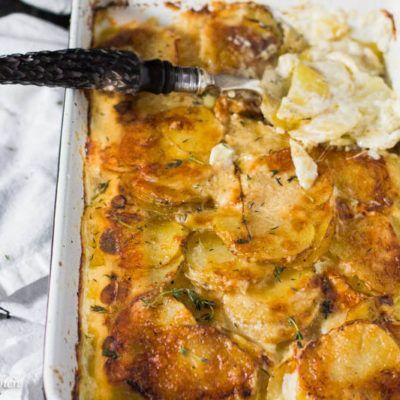 Parmesan Garlic Potatoes Au Gratin (Scalloped Potatoes)