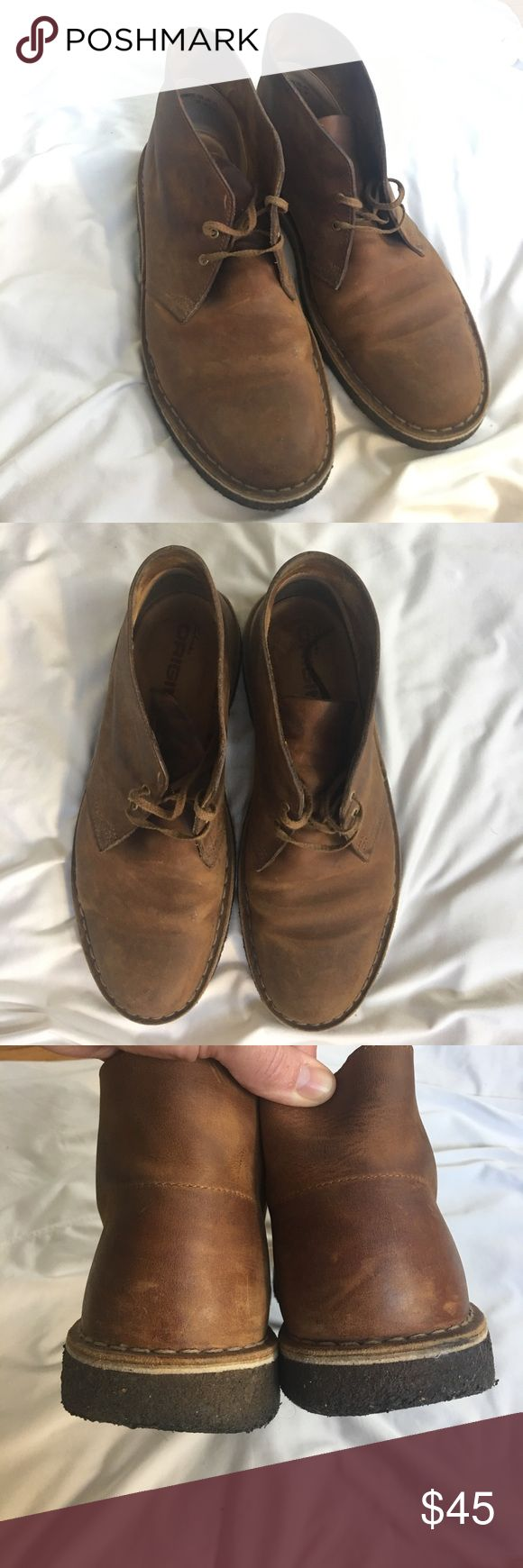 Clark's Desert Boot Chukkas Gently used (see pics of insole). Brown leather Clarks Shoes Chukka Boots