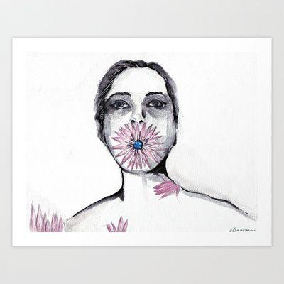 Flower Art Print by Elsa Avraam - $25.00