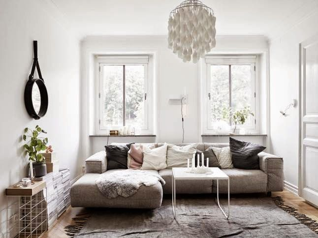 Beautiful interior via My Scandinavian Home,
