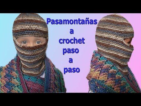 baf02c8370ad2 Gorro para niños pasamontaña a crochet paso a paso