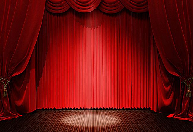Red Curtain Stage Background Stage Curtains Red Curtains
