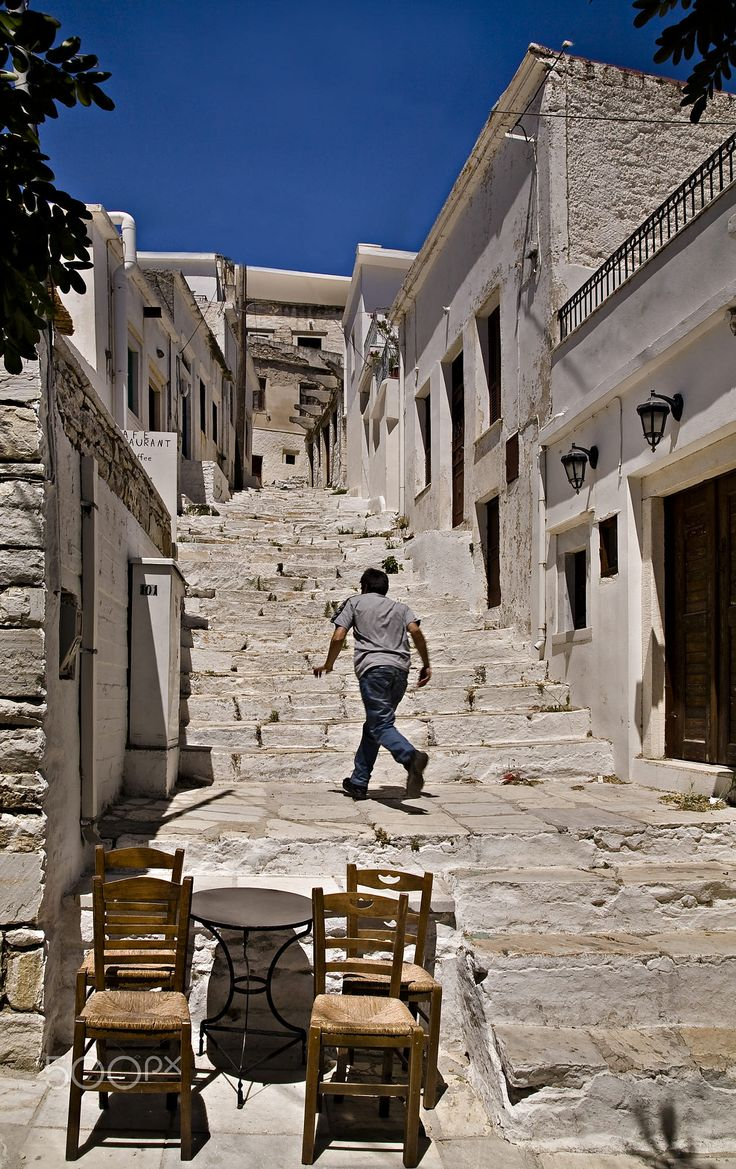 Apeiranthos or Aperathos is a mountainous village in the island of Naxos. It is located 28 km north-east of the capital of the island, built on the foothill of mountain Fanari, on an altitude between 550 and 650 m.