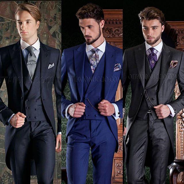 Most modern morning coats: which one you prefer? #luxury #wedding #groom #dapper