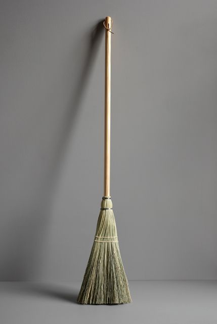 The Shaker Broom features a pine handle and measures 54 inches long; $40 at Justamere Tree Farm.
