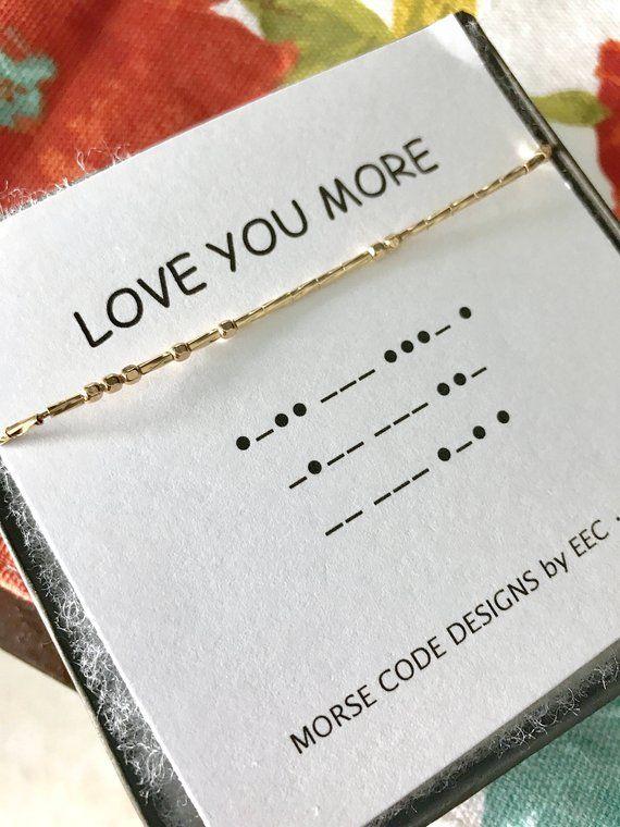 Love You More Morse Code Necklace Secret Message Secret Code Sister Gift Cousins Sister In Law Message Jewelry Morse Code Bracelet Morse Code Necklace