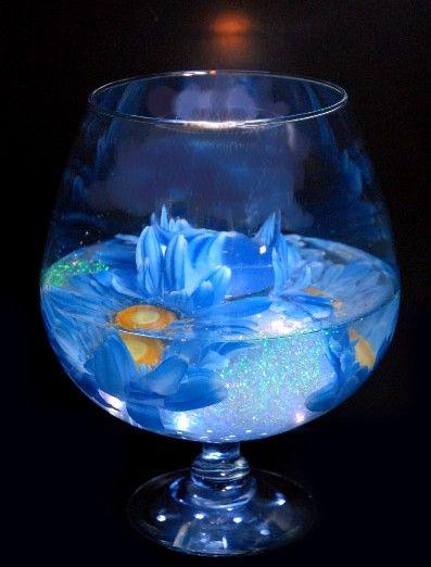 Brandy Glass Glass Vase And Wedding Centerpieces On Pinterest