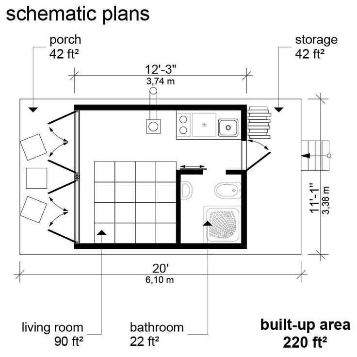 Elevated tiny house plans with construction process complete set of tiny house plans construction progress + comments complete material list + tool list DIY building cost $6,150 You can find a printed version of cottage Marlene plans together with 8 other designs in our new book Cabin Plans. FREE sample plans of one of our design