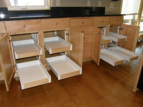pull out shelves baskets drawers | These are just a few ideas. Where ever you install your kitchen pull ...
