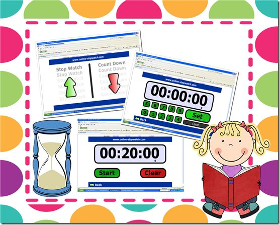 Love this to keep kids on track during daily 5, then I wouldn't have to ring the bell. Perfect now that we have LCDs!